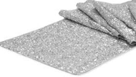 Image of a Silver Sequin Table Runner