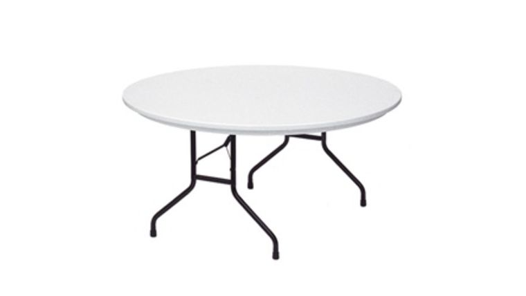 "Picture of a 60"" Round Folding Table"