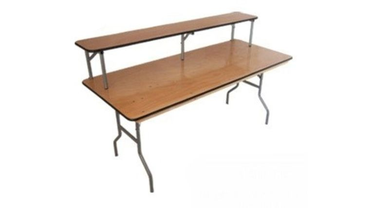 Picture of a Wood Bar Set 6' Table