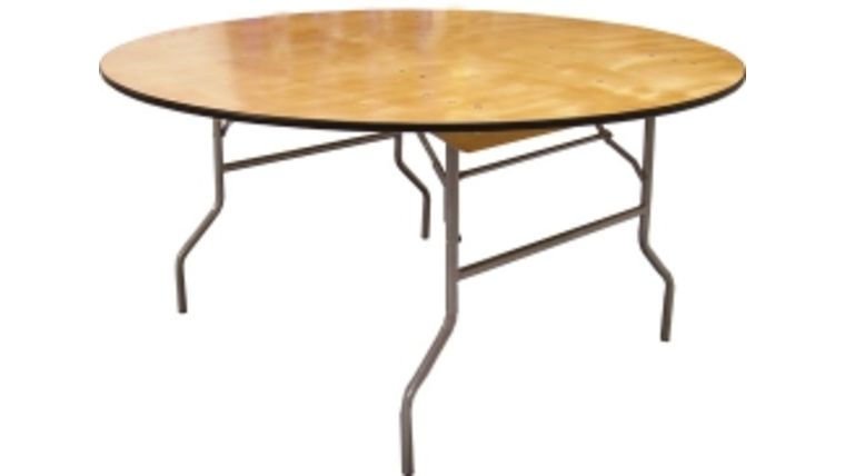 """Picture of a 66"""" Round Folding Table"""