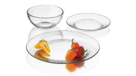 "Image of a 7"" Dessert/Salad Plate, Clear Glass"