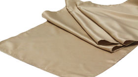 Image of a Table Runner, Matte Satin CHAMPAGNE