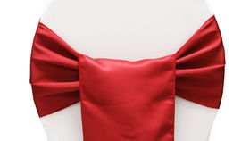 Image of a Chair Sash, Matte Satin APPLE RED