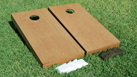 Image of a Cornhole Game Set, NATURAL