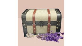 Image of a Chest Style Card Box with Buckles