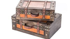 Image of a Decorative Vintage Suitcase, SMALL