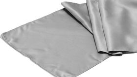 Image of a Table Runner, Matte Satin SILVER