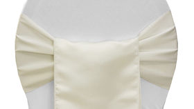 Image of a Chair Sash, Matte Satin IVORY