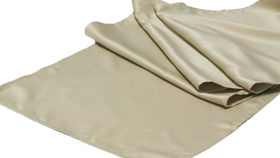 Image of a Table Runner, Matte Satin TOFEE