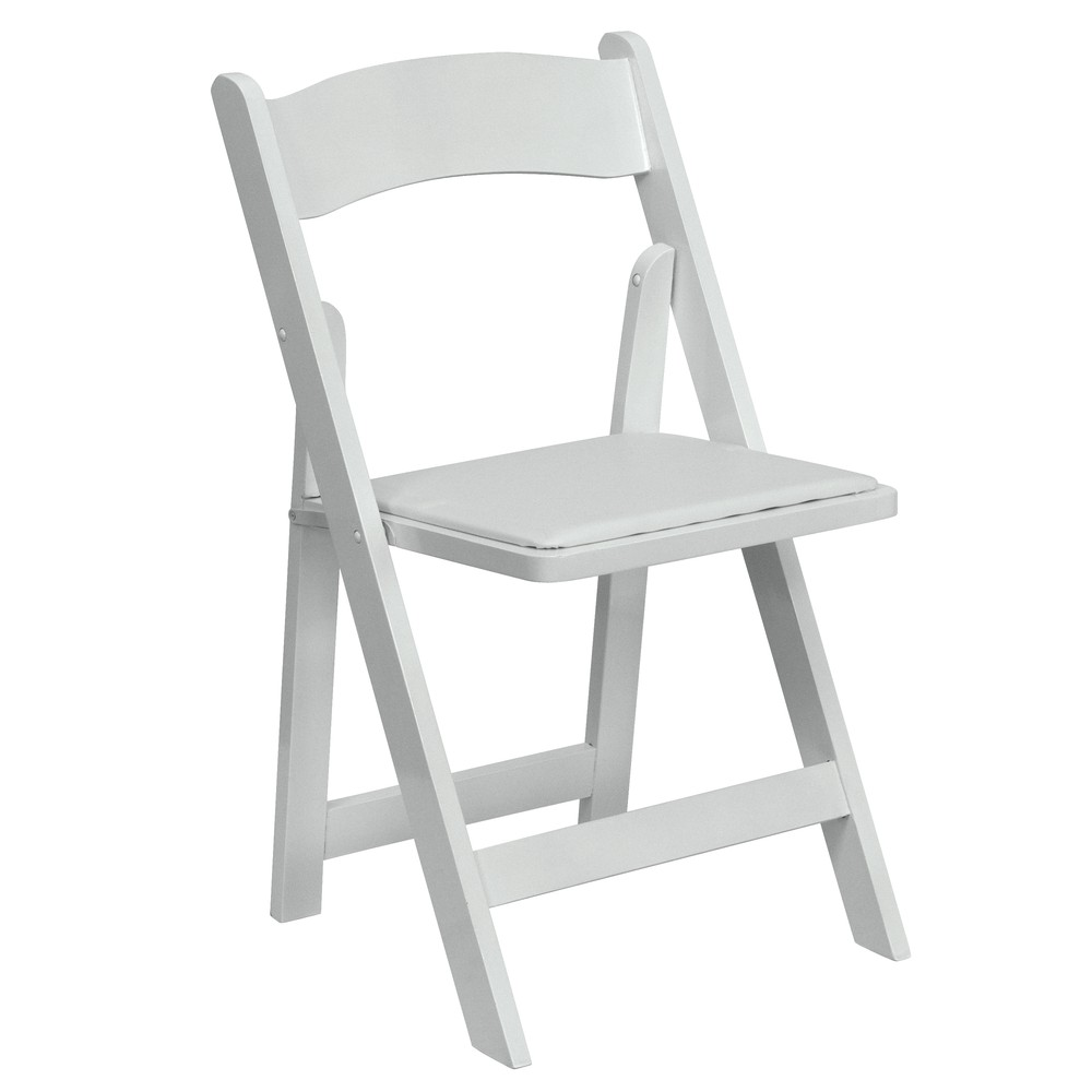 Picture of a White Padded Resin Chair  sc 1 st  Goodshuffle.com & White Padded Resin Chair rentals online - $3/day