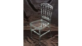 Image of a Clear Resin Versailles Chair