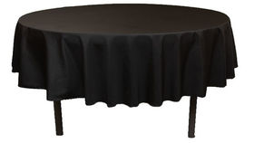 "Image of a Linen - Black Tablecloths (90"" x 132"")"