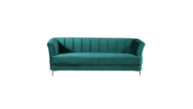 Image of a Becca Green Velvet Sofa