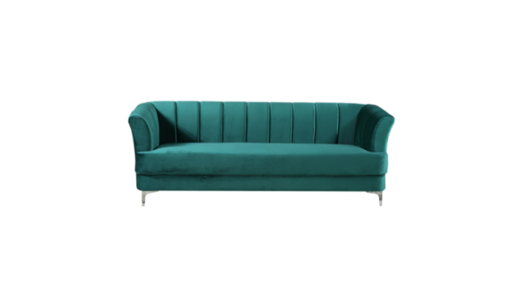 Picture of a Becca Green Velvet Sofa