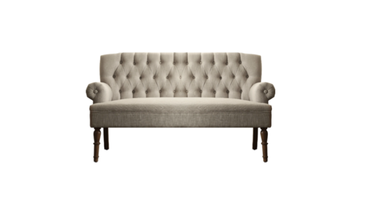 Picture of a Dahlia Tufted Settee Beige