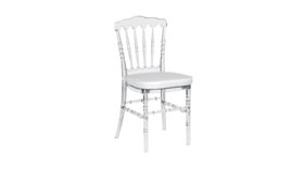 Image of a Clear Versailles Chair