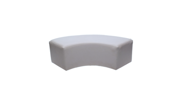 Picture of a Elbow Ottoman White