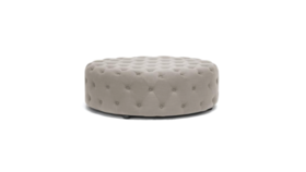 Image of a Emma Round Tufted Ottoman Grey