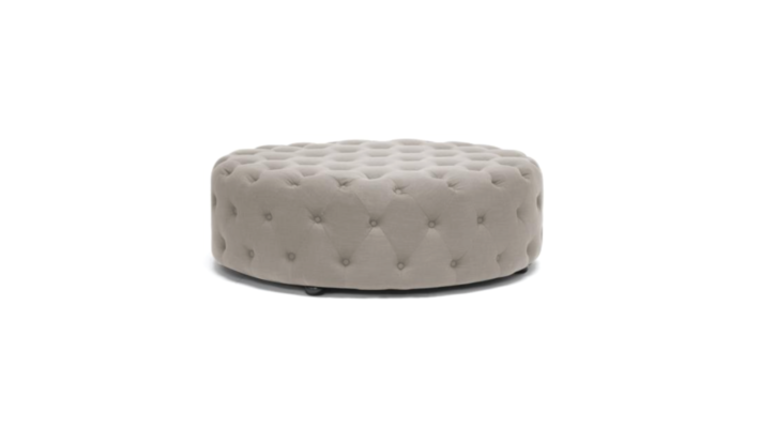 Picture of a Emma Round Tufted Ottoman Grey