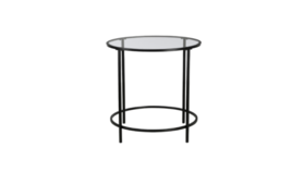 Image of a Round Glass Side Table Black