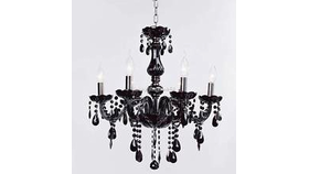 Image of a Black Crystal Chandelier