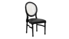 Image of a Black King Louis Chair