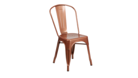 Image of a Copper Metal Chair