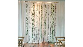 Image of a Greenery and Stick Backdrop