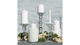 Image of a Clear Glass Candle Holders