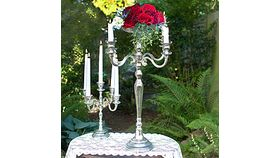 Image of a Silver Candleabra