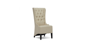 Image of a High Back Beige Chair