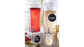 Image of a Plastic Drink Dispenser with Stand