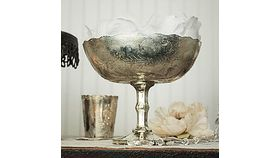 Image of a Mercury Glass Compote Dish