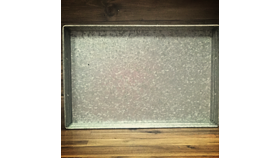Image of a Galvanized Metal Tray