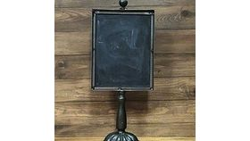 Image of a Small Metal Chalkboard Sign