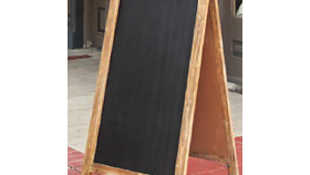 Image of a A-Frame Double Sided Chalkboard Sign