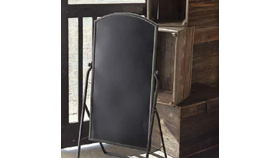 Image of a Tall Metal Chalkboard Stand