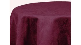 """Image of a Burgundy Damask Runners 120"""" x 18"""" Straight End"""