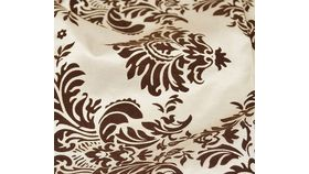 """Image of a Chocolate and Linen Damask Runners 16"""" x 110"""" Pointed End"""