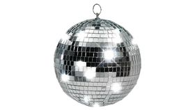 "Image of a 16"" Mirror Ball w/ Spinning Motor and Pinspot Lights"