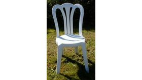 Image of a White Bistro Stacking Chair