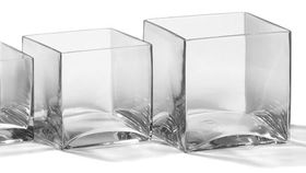 "Image of a 6""x6"" Square Glass Vases"