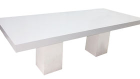 Image of a 8'ft Belair White Rectangle Tables