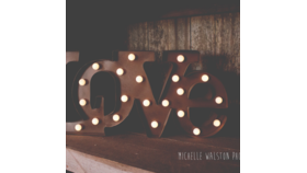 Image of a Marquee - Rustic Love Sign