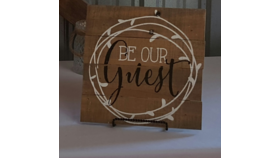 Image of a Be Our Guest Sign