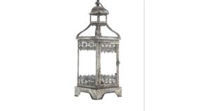 Image of a Silver Metal Lantern