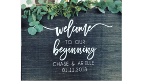 Image of a Custom Welcome Sign