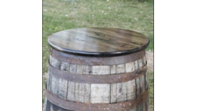 Image of a Whiskey Barrel Table Top