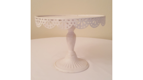 "Image of a 12"" White Cake Stand"