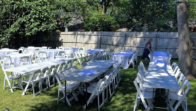 Image of a Chair and Table Set Up